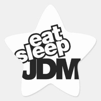coma el sueño JDM Colcomanias Forma De Estrellaes Personalizadas