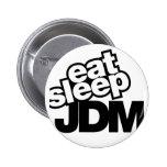 coma el sueño JDM Pin Redondo 5 Cm