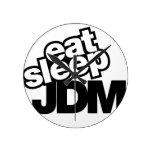 coma el sueño JDM Reloj De Pared