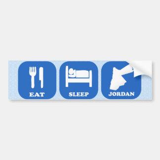 Coma el sueño Jordania Pegatina De Parachoque