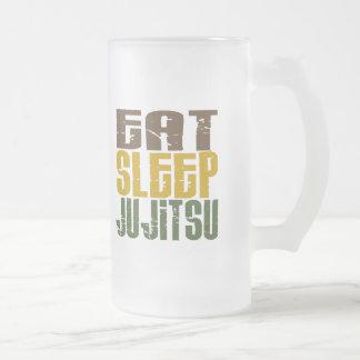 Coma el sueño Ju Jitsu 1 Jarra De Cerveza Esmerilada