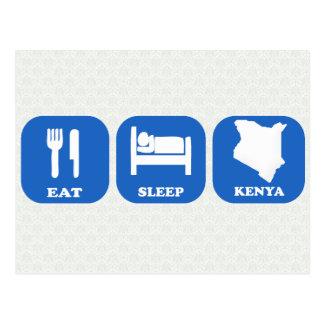 Coma el sueño Kenia Tarjetas Postales