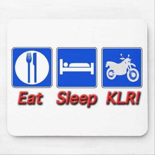 Coma el sueño KLR Tapetes De Ratón