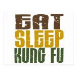 Coma el sueño Kung Fu 1 Tarjeta Postal