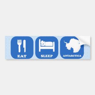 Coma el sueño la Antártida Pegatina De Parachoque