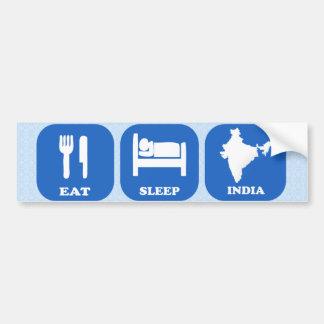 Coma el sueño la India Pegatina De Parachoque