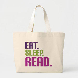coma el sueño leído bolsa tela grande