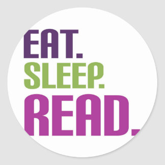 coma el sueño leído pegatina redonda