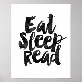 Coma el sueño leído póster