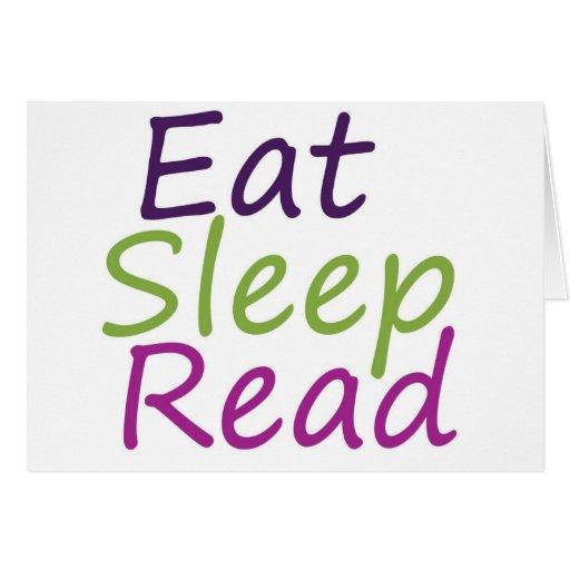 Coma el sueño leído tarjeta de felicitación