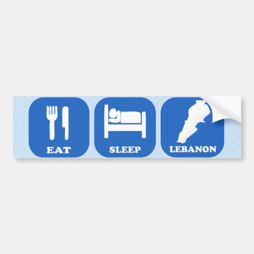 Coma el sueño Líbano Pegatina Para Auto