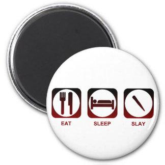 Coma el sueño matan imán redondo 5 cm
