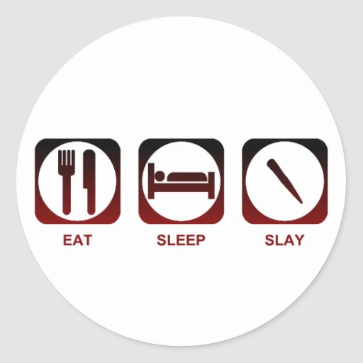 Coma el sueño matan pegatina redonda
