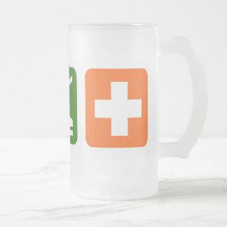 Coma el sueño médico taza de cristal