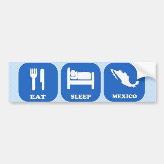 Coma el sueño México Pegatina Para Auto