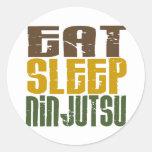 Coma el sueño Ninjutsu 1 Etiqueta Redonda