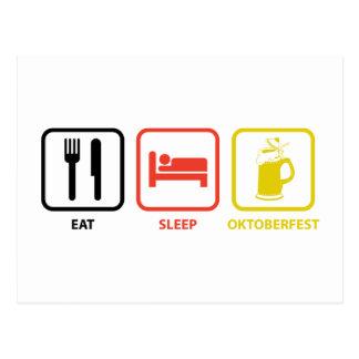 Coma el sueño Oktoberfest Tarjeta Postal