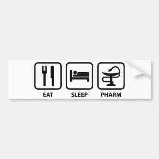 Coma el sueño Pharm Etiqueta De Parachoque