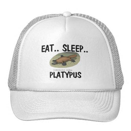 Coma el sueño PLATYPUS Gorros Bordados