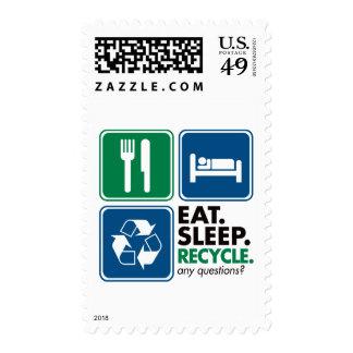 Coma el sueño reciclan sellos