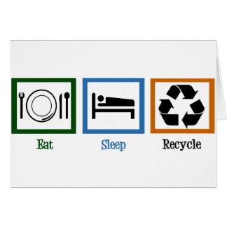 Coma el sueño reciclan felicitación