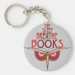 Coma el sueño respiran llavero de los libros