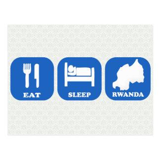 Coma el sueño Rwanda Tarjeta Postal