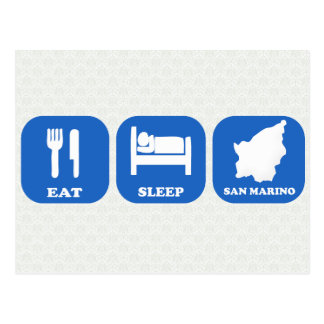 Coma el sueño San Marino Postales