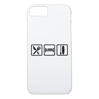 Coma el sueño se colocan para arriba de batimiento funda iPhone 7