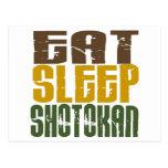 Coma el sueño Shotokan 1 Tarjeta Postal