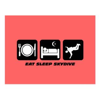 coma el sueño skydive postal