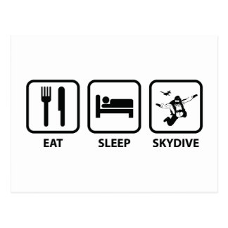 Coma el sueño Skydive Tarjetas Postales