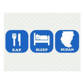 Coma el sueño Sudán Tarjeta Postal