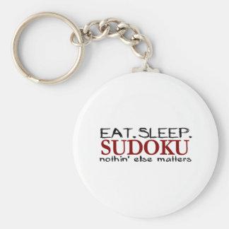 Coma el sueño Sudoku Llavero Personalizado