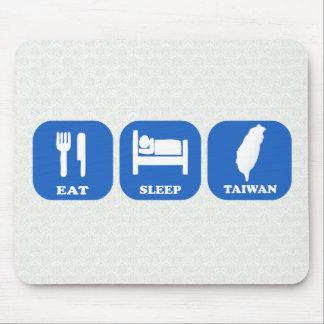 Coma el sueño Taiwán Alfombrillas De Raton