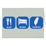 Coma el sueño Taiwán Tarjetón