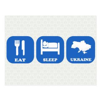 Coma el sueño Ucrania Postal