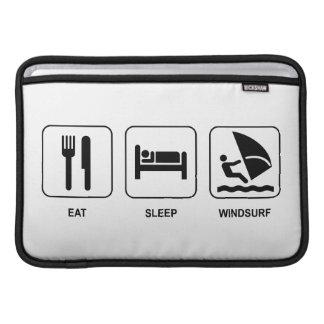 Coma el sueño Windsurf Fundas MacBook