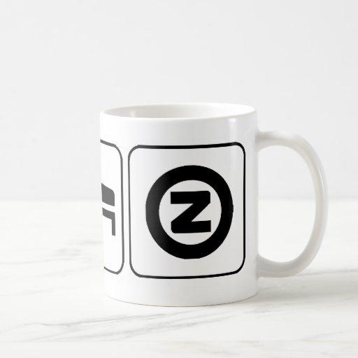 Coma el sueño Zazzle Taza De Café