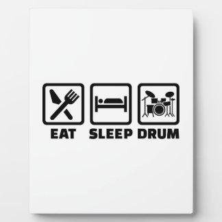 Coma el tambor del sueño placas de madera