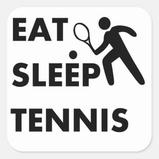 Coma el tenis del sueño colcomanias cuadradass