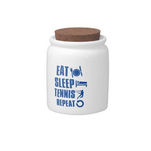 Coma el tenis del sueño jarras para caramelos