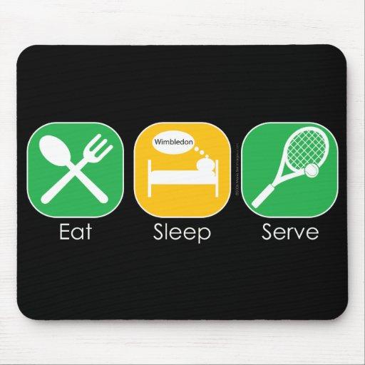 Coma el tenis del sueño mouse pads