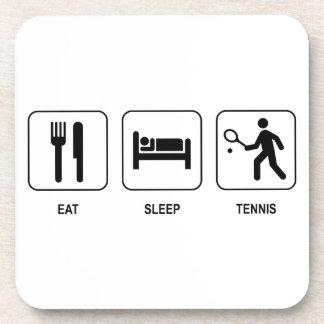 Coma el tenis del sueño posavasos