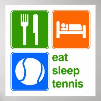 Coma el tenis del sueño póster