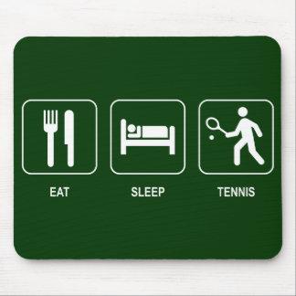 Coma el tenis Mousepad del sueño
