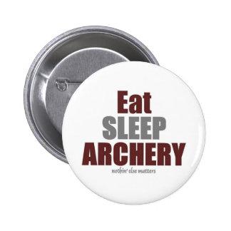 Coma el tiro al arco del sueño pin redondo de 2 pulgadas