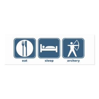 Coma el tiro al arco del sueño tarjetas de visita