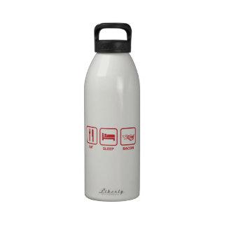Coma el tocino del sueño botella de agua