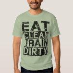 Coma el tren limpio sucio camisas